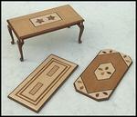 Coffee table veneerd top, 3 models from € 12,50 for